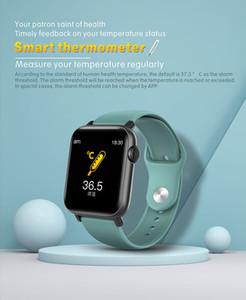 Factory Super Quality Smart Watches QS19 Low Cost Sales Promotional Smart Bracelet With Body Temperature Sensor Wristwatch For Boys Men