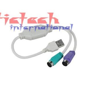 по DHL или EMS 500pcs USB высокого качества для PS2 PS / 2 Кабель-адаптер конвертер клавиатура мышь