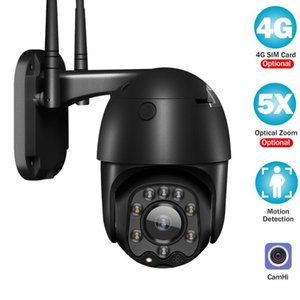 Camhi IP 카메라 3G 4G SIM 카드 1080P CCTV 카메라 야외 스마트 보안 무선 모니터 PTZ 돔 컬러 나이트 비전