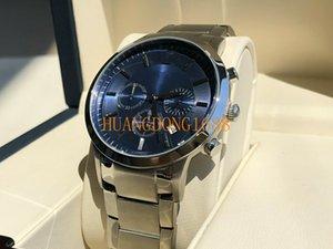 Shi Ying reloj del indicador banda de acero de los hombres europeos originales y A2448 reloj multifuncional de negocios estadounidense