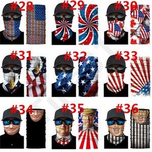 40Color2020 Trump Headscarf Mask Cycling mask campaign Trump Magic Scarf Outdoor Multi-function Headscarf Mask Designer Masks 100pcs T1I2271