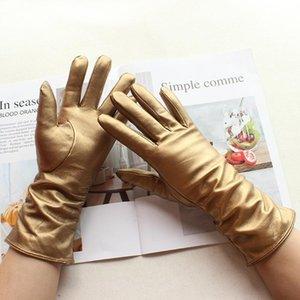 Bickmods Эластичные кожаные перчатки Перчатки на открытом воздухе Стиль бархата Стиль Вельхатная Подкладка Зима Хранить Теплый Классический Вождение Модные Женские BPXWK