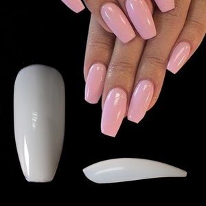 No bad smell 2020   pcs DIY False Ballerina Nails Full Half Nail Tips Fake Nails Coffin Nails Beautiful Nail Art