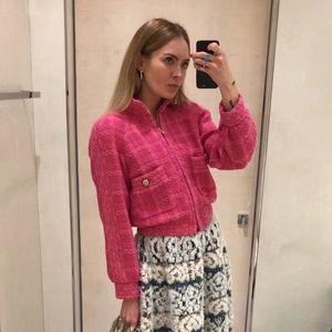 Women's Blouses & Shirts CC Tweed 100% Wool Winter Blazer Paris Fashion Week Runway Designer Collection 2021