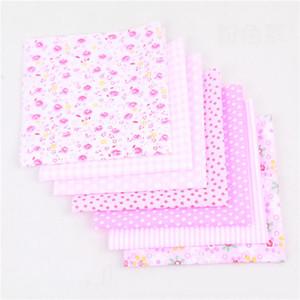 25 * 25 cm carré de tissu de coton Petit Floral tissée Tissu en coton imprimé bricolage main Patchwork Needlework Décoration VT1481