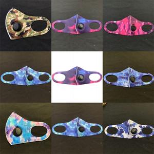2.5 Koru Katlama solunum cihazına 2 5zk C2 Vana Ağız Yüz Maskesi Yıkanabilir Yeniden kullanılabilir Pm Nefes ile Kamuflaj Starry Sky Tie Boyalı Mascherine