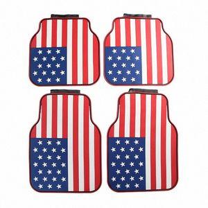 Automotive Products facile da pulire rilievi del piede American Flag antimacchia antiscivolo in lattice universale piede Pads PPBO #