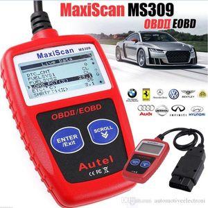 MS309 OBD2 الماسح رمز القارئ السيارات MS 309 أداة تشخيص تشخيص السيارات OBD 2 سيارة رمز محرك القارئ أفضل ثم ELM327 OBD