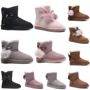 2020 Australia Nueva bota botas para la nieve de invierno en moda mujer mini señoras de la mini-tobillo niñas clásicos zapatos de los cargadores de la marina triples marrón tamaño 36-40 # gcjY