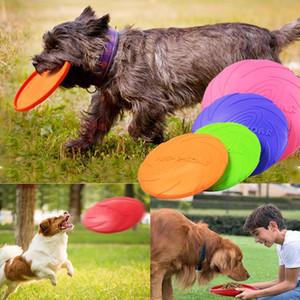 مضحك سيليكون الصحن الطائر الكلب لعبة القط لعبة الكلب الطائر أقراص مقاومة شو اللوازم الجرو التدريب التفاعلي الحيوانات الأليفة