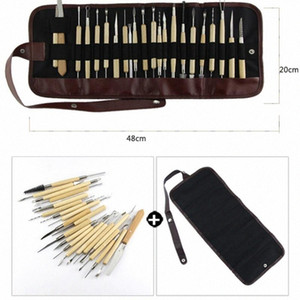 DIY Art Clay Pottery Tool Set Crafts Clay Sculpting Tool Kit Pottery & Ceramics Wooden Handle Modeling Tools Nhn9#