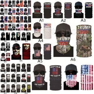 Trump Face Mask 2020 American Election US Flags Bandana Outdoor Cycling Magic Scarves Black Lives Matter Headband Turban Trump Masks CYZ2580