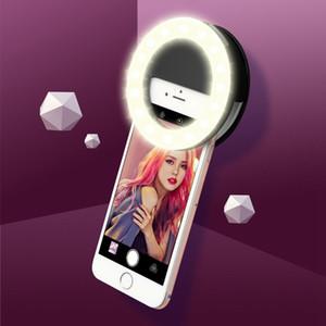الهاتف المحمول الصور الشخصية للحلقة ضوء USB تهمة المحمولة فلاش LED كاميرا الجلد جمال التصوير الدائرة لهواوي
