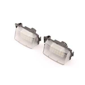 2Pcs White Car LED License Plate Light Replacement Number Plate Lamp ForNISSAN 350Z 370Z GTR For INFINITI G25 G35 G37