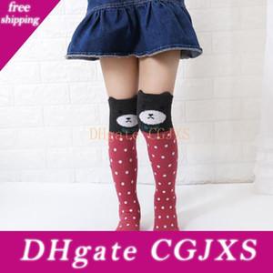 Cotone personaggio dei cartoni animati Kid ragazze calzini degli animali lungo Carino calzettoni abbigliamento bambino Boot Calze Scaldamuscoli Sox 3 -12 anni