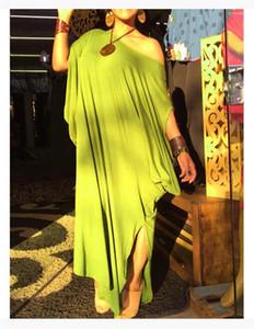 Natural Color Half Sleeve Dresses Women Designer Clothes Women Dresses Fashion Loose Split T Shirt Dresses Casual