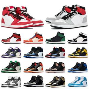 2020 أسود تو شيكاغو 1 1S العليا OG ضوء دخان رمادي النساء الرجال أحذية كرة السلة TOP 3 لعبة الملكي Jumpman 1 المدربين أحذية رياضية