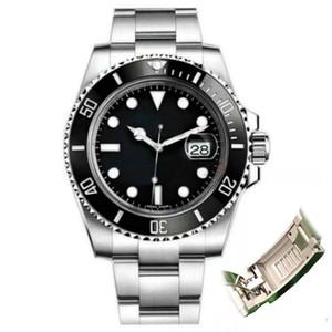 Glide Lock Negro Bisel de cerámica 2020 del nuevo Mens mecánico SS 2813 Movimiento automático reloj de diseño deportes de la moda Relojes de pulsera hombres