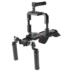 CAMVATE Pro Soporte del montaje del hombro del aparejo Con ARRI cola de milano trineo Plate Full Frame Kit Jaula para Red DSMC2 Cámaras C2563