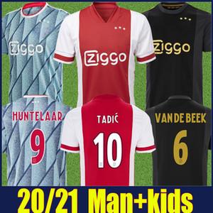 2020 de football maillot AJAX VAN DE BEEK Neres football chemises TADIC PROMES football uniforme BLIND maillot ALVAREZ de Camiseta AJAX Kit enfants 20/21