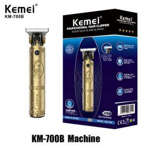 Kemei 700A 700B KM-700A KM-700B Pro Li T-Outliner İskelet Ağır Hitter Akülü Giyotin Erkekler Baldheaded Saç Kesme Kesme Makinesi