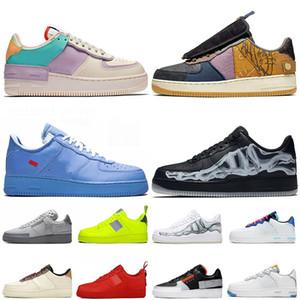 nike air force one Ein MCA Schatten yp N.354 Hyper purpurnen Lauf Skate Schuhe Männer Frauen Skeleton Forces Im Freien Lederturnschuhe Sport Sneakers