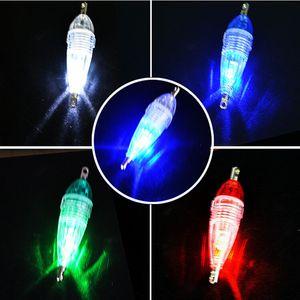 S2845 2Pcs / Lot Mini LED profonde chute sous-marine Pêche Squid poisson appât lumière lampe flash pêche Accessoires de haute qualité New Float