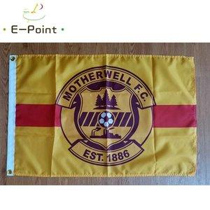 Drapeau de l'Ecosse Motherwell FC 3 * 5 pi (90cm * 150cm) Polyester SPL drapeau décoration bannière de vol jardin maison drapeau cadeaux de fête