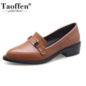 Taoffen Tamanho 32-43 New Women Apartamentos confortáveis Shoes Primavera Outono sapatos femininos diário Moda Feminina calçado