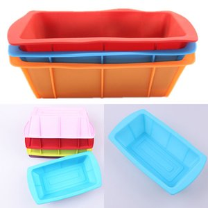 Silicone DIY Toast Box Mould Baking Tools Rectangular Cake Bread Plate Kitchen Baking Tools Heat Resisting Multi Colors WX9-99