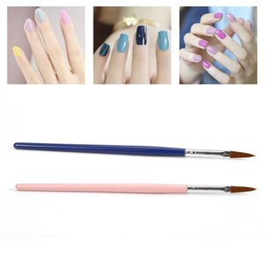 1pcs / set prego Brushes Madeira Handle de Design Gel UV polonesa pattern pintura Pen Desenho 3D DIY Builder Dicas Manicure Tools