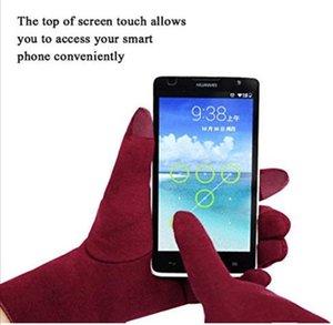 Écran tactile Gant d'hiver chaud Gant téléphone tactile complet Finger Gant peluche intérieur mitaines Fashion Drive Gants de vélo DHA1032