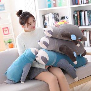 1pc 65-100cm New bonito Stuffed Plush Sloth Simulação preguiças brinquedo macio Animais Plushie boneca Pillow para o presente de aniversário de criança
