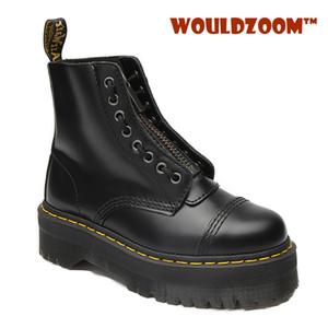 2020 inverno motociclo donna stivali piattaforma 6 cm in vera pelle cerniera stivaletti caviglia in alto top impermeabile DR scarpe da boot scarpe