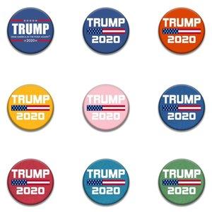 Trump Hatıra Rozet broşlar pimleri 2020 Amerikan Seçim 9style moda Trump Rozet ABD Bayrağı BroochesT2I5962 Malzemeleri