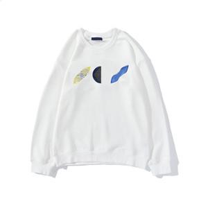 20FW Геометрическая Цветочная Вышивка Мода Толстовка для мужчин Женщины свитер Зима Толстовка Пуловеров Homme Streetwear одежда M-2XL