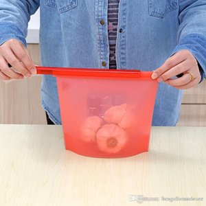Alimentos de calidad de silicona de vacío de almacenamiento para el hogar Bolsas bolsas selladas sopa congelada espesado Calefacción alimentos bolsa Frigorífico alimentos Savers BH0176