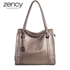 Zency 100% Genuine Leather Soft Skin Fashion Women Shoulder Bag Black Hobos Female Crossbody Messenger Purse High Quality Tote