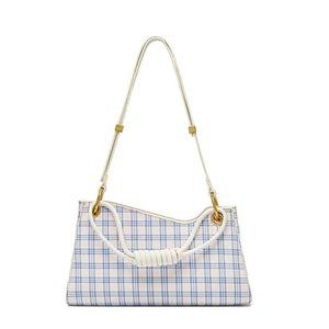 One-shoulder Check Plaid & Tartan Armpit Bag Premium Sense Underarm Frog Bag Fashion Designer Baguette 2020 Winter New Handbag Wallets Purse