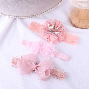 FOCUSNORM 3шт / Set Baby Girl стяжка ленты Упругого головной убор Дети диапазон волосы Новорожденный лук для Baby Girl 0-3Years