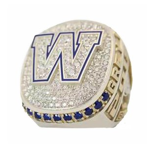 Winnipeg Blue 2019 Bombers CFL Grey Cup Team champions Championship Ring With Wooden Box Souvenir Men Fan Gift 2020 wholesale