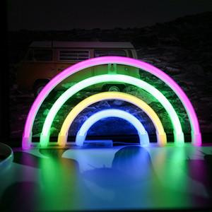 Oda Ev Partisi Düğün Dekorasyon Yüksek Kalite Toptan Led Neon Işık Renkli Gökkuşağı Neon Sign neon