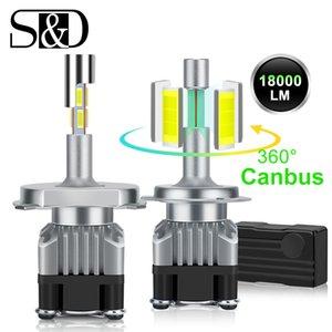 18000LM 4 Стороны Canbus H7 LED фара H1 H4 Turbo 9005 HB3 9006 HB4 H8 H11 лампы 6500К лампы 360 градусов Диод Авто Противотуманные фары