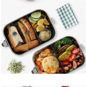 304 Stainless Steel Thermos Lunch Box for Kids Reusable Lunch Container 2 Compartment Bento Box Food Container Thermal Lunchbox A05