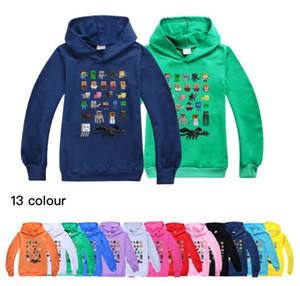 Мир Мои Minecraft Большие мальчики и девочки Trend Повседневный Спорт свитер с длинным рукавом Детская толстовка Размер 100-170cm