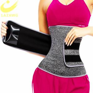 LAZAWG Waist Trainer Belt Waist Cincher Trimmer Slimming Body Shaper Sport Girdle Back Support Elastic Compression Cincher Belt 200922