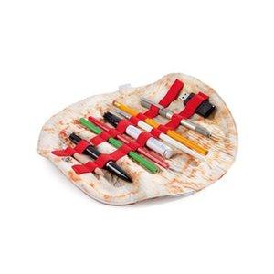 Simulation Burrito Trousse Sac artificiel alimentaire Crayon créatif Spoof Rangement Wrap ronde en cuir souple cadeau d'anniversaire 18dr C1