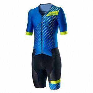 2020 2020 ZOOTEKOI Triathlo skinsuit Ciclismo Sets Trisuit manga curta MTB Roupa bicicleta Jersey Ropa Ciclismo Hombre uHFw #