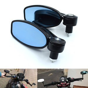 """Universal 7 8"""" 22mm Motorcycle Mirrors Rear View Handle Bar End Rearview Side Mirrors Oval for Suzuki GSXR600 GSXR750 GSXR1000"""