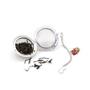 Tè dell'acciaio inossidabile infusore Pot Infusers Sfera del tè del setaccio della maglia della sfera di bloccaggio colini e filtri di tè Intervallo diffusore per la sfera DHD1556